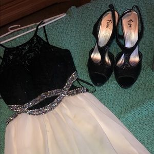 Dresses & Skirts - Black and White Homecoing Dress with Sequins